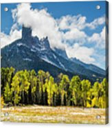 Chimney Rock Autumn Acrylic Print