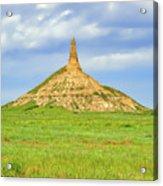 Chimney Rock North Platte River Valley Nebraska  - Chimrock168482 Acrylic Print
