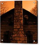 Chimney Sky In Sepia Acrylic Print