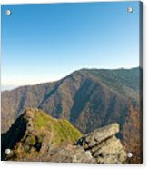 Chimney Tops Vista In Great Smoky Mountain National Park Tennessee Acrylic Print by Brendan Reals