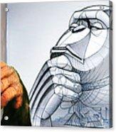 Chimps Don't Draw Acrylic Print