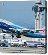 China Airlines Boeing 747 Dreamliner Lax Acrylic Print