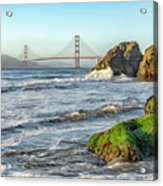 China Beach To The Golden Gate Acrylic Print
