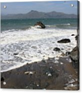 China Beach With Outgoing Wave Acrylic Print