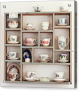 China Cups On Display At An Antique Shop Acrylic Print