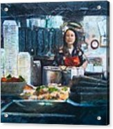China Kitchen Acrylic Print