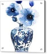 China Ming Vase With Flower Acrylic Print