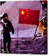 China On The Moon Acrylic Print