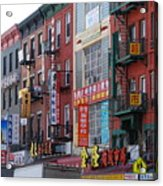 China Town Buildings Acrylic Print