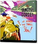 China, Yangtze River Cruise Acrylic Print