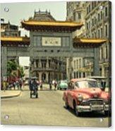 Chinatown Chevy  Acrylic Print