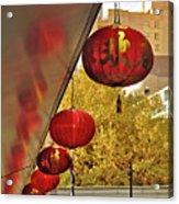 Chinatown - Chinese Lanterns Acrylic Print