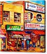 Chinatown Markets Acrylic Print
