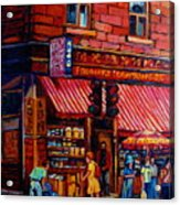 Chinatown Montreal Acrylic Print