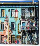 Chinatown Mural On Broadway Acrylic Print