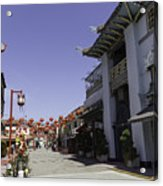 Chinatown Shops Acrylic Print