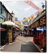 Chinatown Street Acrylic Print