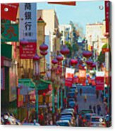Chinatown Street Scene Acrylic Print