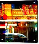 Chinatown Window Reflections 2 Acrylic Print by Marianne Dow