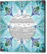 Chinease Ketubah- Reformed And Interfaithversion Acrylic Print