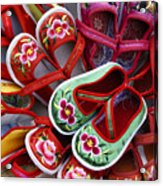 Chinese Baby Shoes Acrylic Print