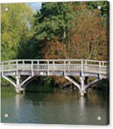 Chinese Bridge Over The River Acrylic Print