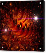 Chinese Dragon Galaxy Acrylic Print