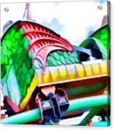 Chinese Dragon Ride 4 Acrylic Print