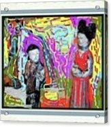 Chinese Figures Acrylic Print
