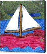 Chinese Fishing Boat Acrylic Print