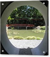Chinese Garden View Acrylic Print