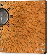 Chinese Geomantic Compass And Perpetual Acrylic Print