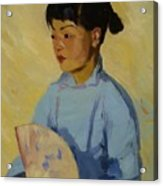 Chinese Girl With Fan 1914  Acrylic Print