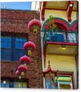 Chinese Lanterns Over Grant Street Acrylic Print