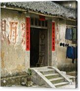 Chinese Laundry Acrylic Print