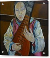 Chinese Lute Player Acrylic Print
