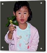 Chinese Orphan Girl Acrylic Print