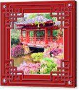 Chinese Pavilion Rhododendron Gardens Burnie Tasmania Acrylic Print