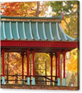 Chinese Pavillion In Tower Grove Park Acrylic Print