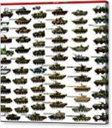 Chinese Pla Tanks Acrylic Print