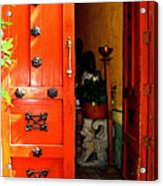 Chinese Red Shop Door Acrylic Print