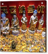 Chinese Religious Trinkets And Statues On Display In Xiamen Chin Acrylic Print