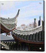 Chinese Rooflines Acrylic Print