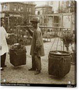 Chinese Vegtable Pedler In San Francisco Circa 1880 Acrylic Print