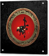 Chinese Zodiac - Year Of The Goat On Black Velvet Acrylic Print