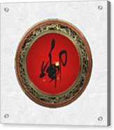 Chinese Zodiac - Year Of The Rabbit On White Leather Acrylic Print
