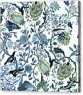 Chinoiserie Blue Acrylic Print