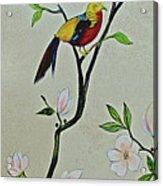 Chinoiserie - Magnolias And Birds #1 Acrylic Print