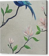Chinoiserie - Magnolias And Birds #4 Acrylic Print