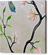 Chinoiserie - Magnolias And Birds #5 Acrylic Print